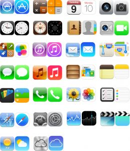 Apple iOS6 and iOS7 icon